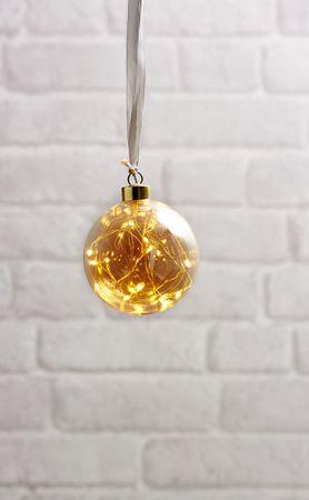 """Glow"" Glaskugel mit 15 warmwhite LED, ca. 11 cm Ø – Bild 3"