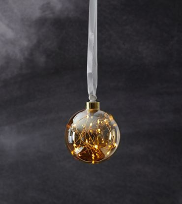 """Glow"" Glaskugel mit 15 warmwhite LED, ca. 11 cm Ø – Bild 5"