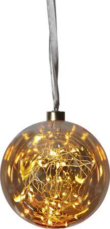 """Glow"" Glaskugel mit 40 warmwhite LED, ca. 15 cm Ø – Bild 1"