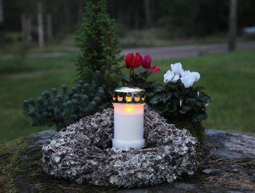 Display LED - Memorial Candle 14 cm, flackernd – Bild 4