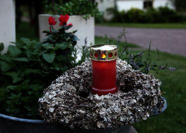 Display LED - Memorial Candle 14 cm, flackernd – Bild 3