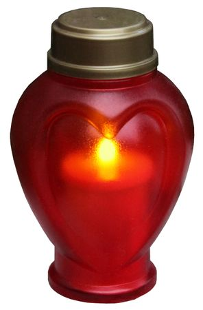 Display LED - Memorial Candle 15 cm, flackernd – Bild 1