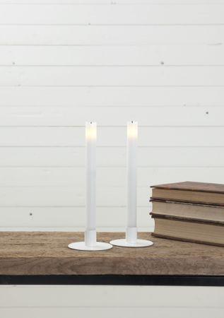 """LED-Kerzen """"Wave"""" lang, 2er Set – Bild 3"""