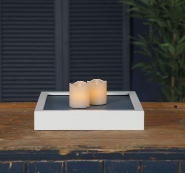 LED-Wachskerzen, 2er Set, creme – Bild 3