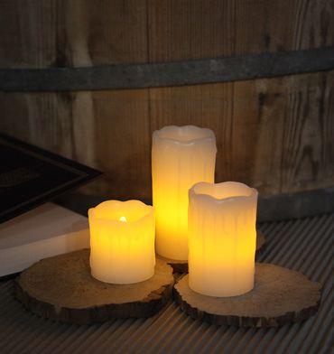 LED-Wachskerzen,3 Stück, flackernd – Bild 5