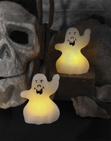 "LED-Wachskerzen ""Ghost"" , 2er Set,"
