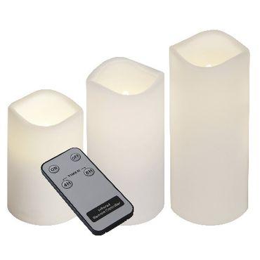 "3er Set LED-Kerzen ""Paul"" aus Kunststoff, flackern – Bild 1"