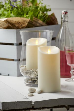 "LED-Kerze ""Twinkle"" aus Kunststoff, creme – Bild 4"