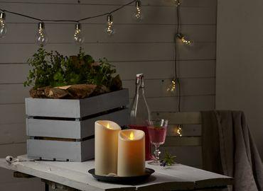 "LED-Kerze ""Twinkle"" aus Kunststoff, creme – Bild 3"