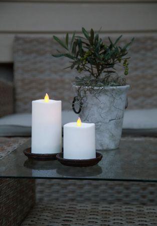 "LED-Kerze ""Glim"" aus Kunststoff, flackernd – Bild 2"