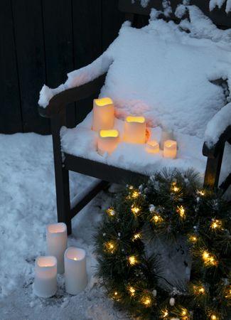 "LED-Kerze ""Paul"" aus Kunststoff, flackernd – Bild 3"