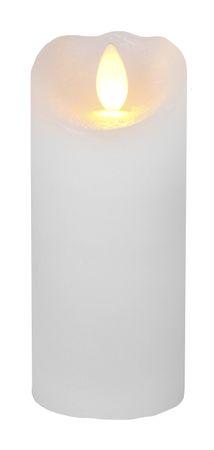 "LED-Wachskerze ""Glow Flame"", Farbe: weiss – Bild 1"