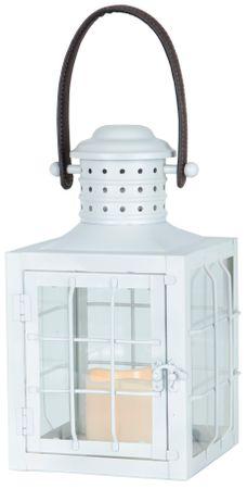 "LED-Laterne ""Lantern 30cm"", Farbe: weisses Metall – Bild 1"