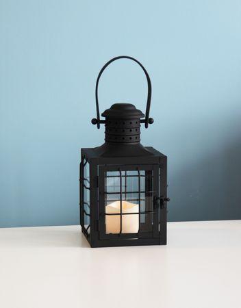 "LED-Laterne ""Lantern 30cm"", Farbe:schwarzes Metall – Bild 4"