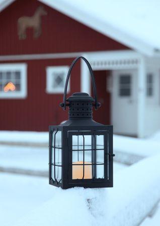 "LED-Laterne ""Lantern 30cm"", Farbe:schwarzes Metall – Bild 6"