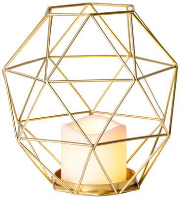 "LED-Dekoration ""Edge Lantern"", Farbe: gold – Bild 1"