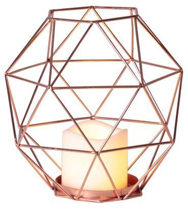 "LED-Dekoration ""Edge Lantern"", Farbe: kupfer – Bild 1"