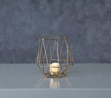 "LED-Dekoration ""Edge Lantern"", Farbe: gold – Bild 4"