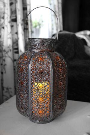 "LED-Laterne ""Agadir"", Farbe: silber/grau, Timer – Bild 3"
