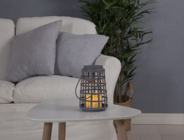 "LED-Laterne ""Lantern 21cm"",flackernd, Farbe: grau, – Bild 3"