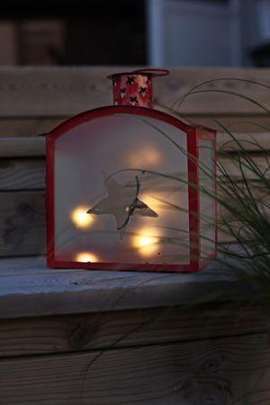 "LED-Weihnachtslaterne ""Staris"", rot – Bild 2"