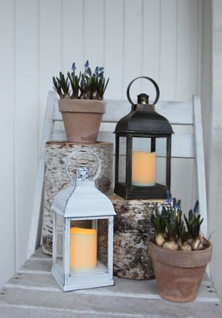 "Display ""Lantern 13 cm"", 6 tlg, flackernd, Metall – Bild 8"