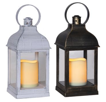 "Display ""Lantern 13 cm"", 6 tlg, flackernd, Metall – Bild 1"