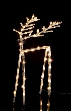 """LED-Acryl-Design-Rentier """"Icy Deer"""", – Bild 2"""