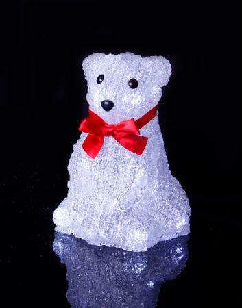 LED-Crystal Polarbär,sitzend,16 cool white LED, – Bild 2