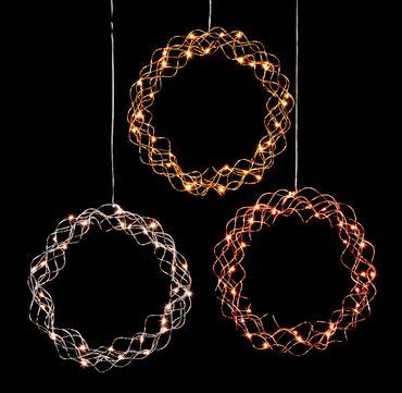 "LED-Dekokranz ""Curly"", ca.30 cm – Bild 2"