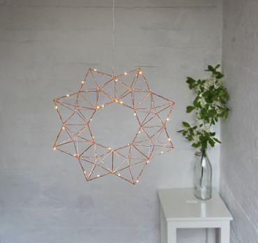 "LED-Drahtstern ""Edge"", ca. 40 cm – Bild 4"