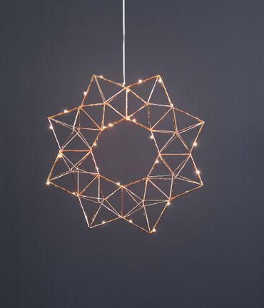 "LED-Drahtstern ""Edge"", ca. 40 cm – Bild 6"