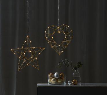 "LED-Drahtstern ""Edge"", ca. 38 cm – Bild 3"