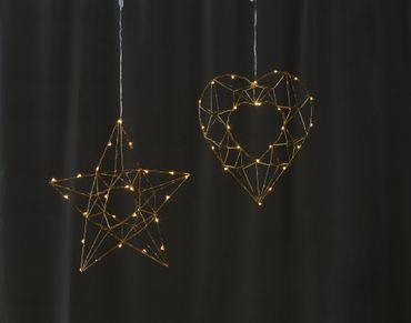 "LED-Drahtherz ""Edge"", ca. 32 cm – Bild 5"