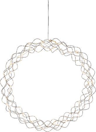 "LED-Dekokranz ""Curly"", ca.45 cm – Bild 1"