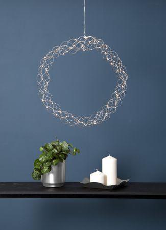 "LED-Dekokranz ""Curly"", ca.45 cm – Bild 2"