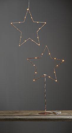 "LED-Drahtstern ""Sparkling"", kupfern – Bild 3"