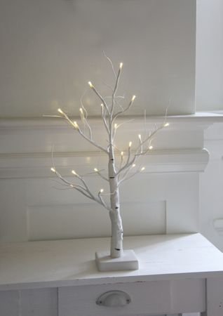 "LED-Dekobaum ""Battery Tree"", weiss – Bild 5"