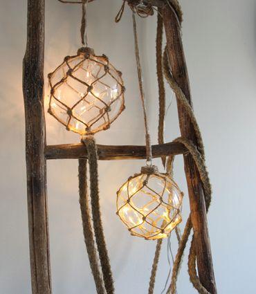 """""""Noah"""" Glaskugel mit 8 LED-Lichtern, ca. 14 cm Ø – Bild 3"""
