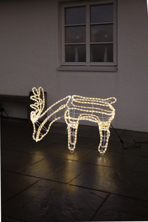 3D-LED-Rope-Light-Silhouette Rentier, grasend, – Bild 3