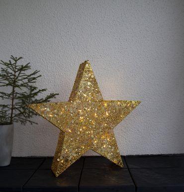 LED-3D Silhouette Stern mit Pallietten, gold – Bild 3