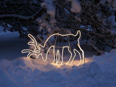 LED-2D-Rentier-Silhouette, grasend – Bild 3