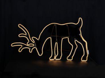 LED-2D-Rentier-Silhouette, grasend – Bild 4