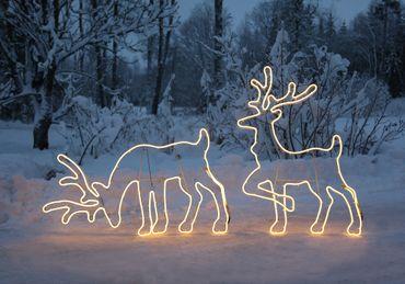 LED-2D-Rentier-Silhouette, grasend – Bild 5