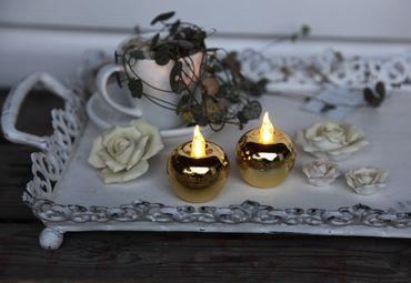 "LED-Tischdekoration ""Mini-Apple"", Farbe : gold – Bild 3"