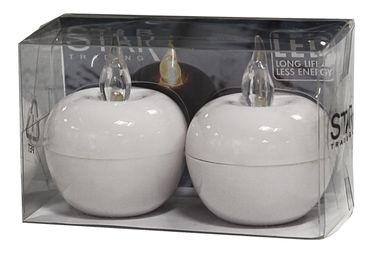 "LED-Tischdekoration ""Mini-Apple"", Farbe : weiss – Bild 1"