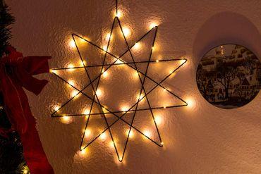 LED 3D-Draht -Silhouette, Stern, 120 ww LED, ca. 5 – Bild 2