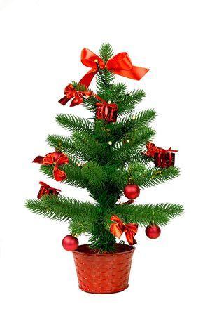 LED Weihnachtsbaum mit Dekoration,  rot,  ca. 45cm – Bild 1