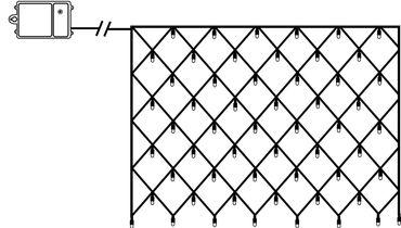 LED-Dura String-Netz, 80 warmwhite LED – Bild 1