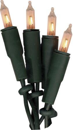 Mini-Lichterkette 20teilig Kabel und kerzen grün – Bild 1